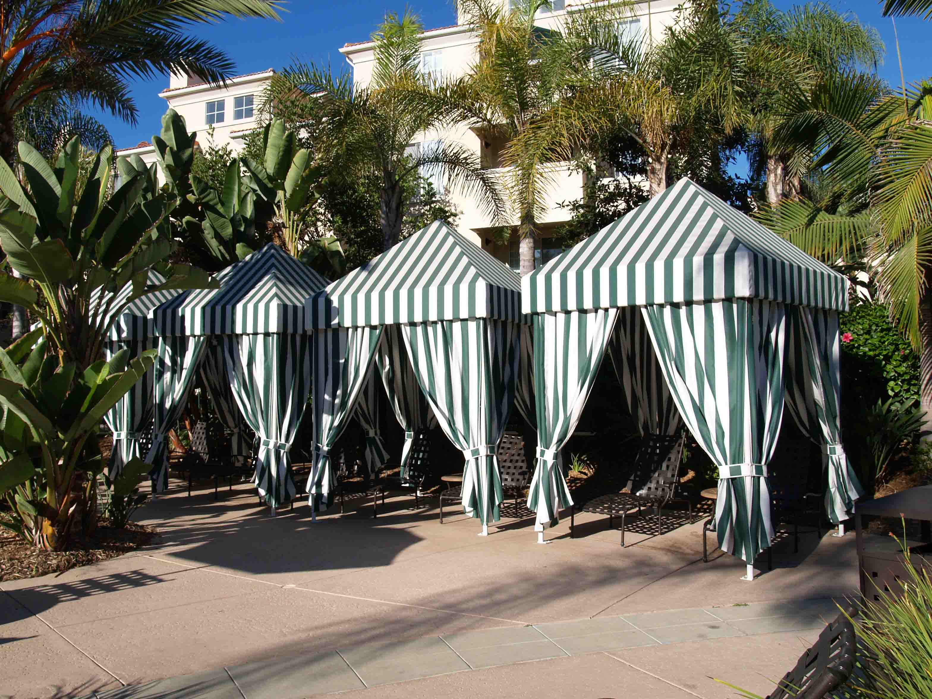 Beach Tents Cabanas : Resort pool cabanas for the and beach